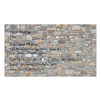 Old Stone Wall Background Business Card