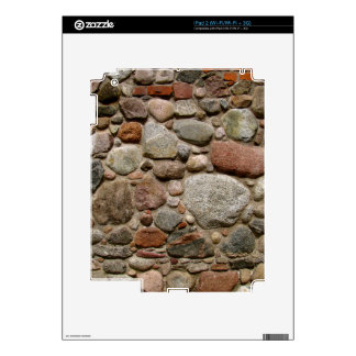 Old stone wall device skin decals for the iPad 2