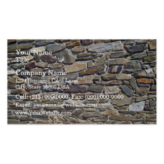 Old Stone Wall Made Of Randomly Stacked Blocks Business Card