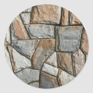Old stone wall structure classic round sticker