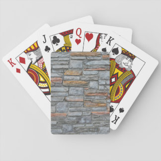 Old Stone Wall Texture Playing Cards