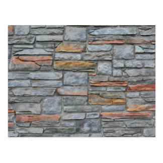 Old Stone Wall Texture Postcard