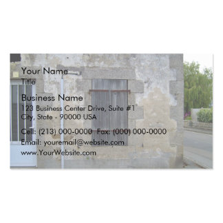 Old Stone Wall With A Door And A Window Business Cards