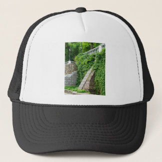 Old stone wall with ivy trucker hat