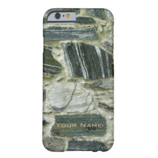 Old Stone Wall with Name Barely There iPhone 6 Case