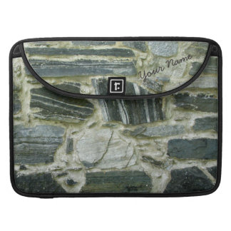 Old Stone Wall with Name MacBook Pro Sleeve