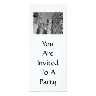 """Old Stone Walls and Sky. 4"""" X 9.25"""" Invitation Card"""