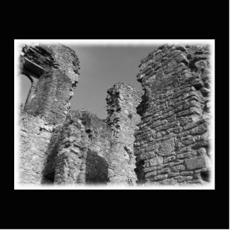 Old Stone Walls and Sky. Photo Cut Out