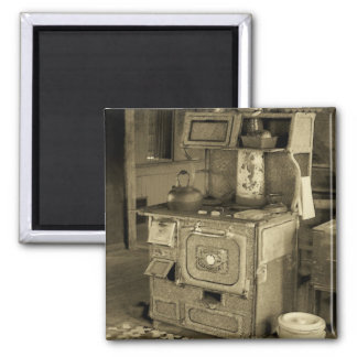 Old Stove 2 Inch Square Magnet