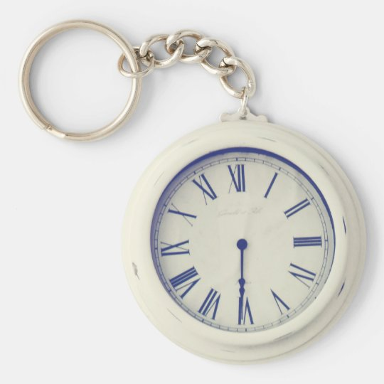 Old Street Clock Keychain
