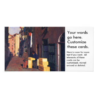 Old Street in Nice France painting art Vallatton Card
