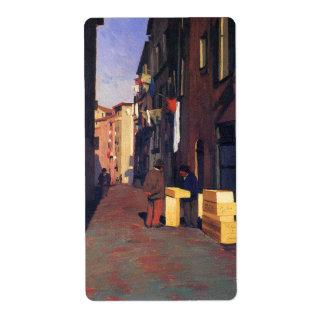 Old Street in Nice France painting art Vallatton Label