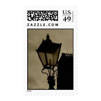 Old Street Lamp Stamp