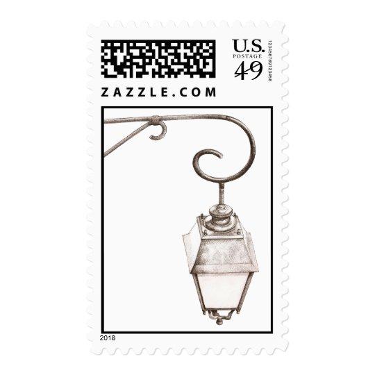 Old Street Light Stamp