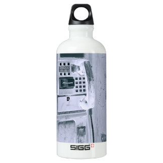 old street pay phone aluminum water bottle