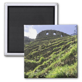 Old structure at top of steep hill 2 inch square magnet