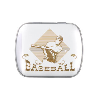 Old Style Baseball Candy Tins