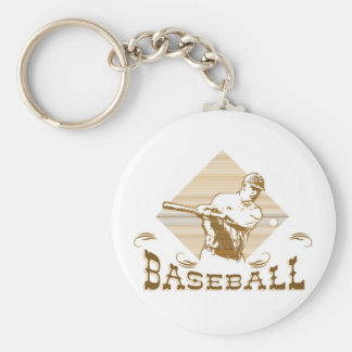 Old Style Baseball T-shirts and Gifts Basic Round Button Keychain