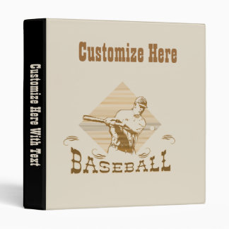 Old Style Baseball T-shirts and Gifts 3 Ring Binders