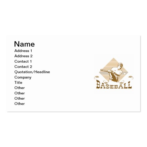 Old Style Baseball T-shirts and Gifts Business Card