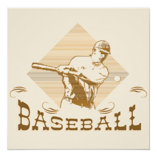 Old Style Baseball T-shirts and Gifts Invitation