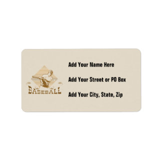 Old Style Baseball T-shirts and Gifts Address Label