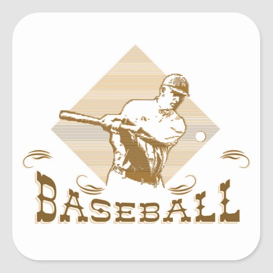 Old Style Baseball T-shirts and Gifts Square Sticker
