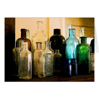 Old Style bottles Stationery Note Card