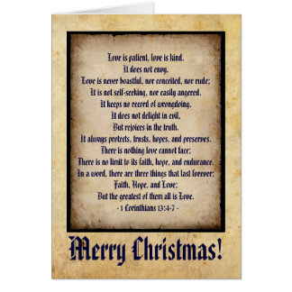 Old Style Christmas Card! Greeting Card