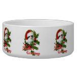 Old Style Christmas Kitten Season's Greetings Bowl
