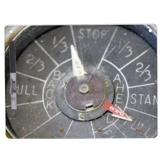 Old Style Engine Order Telegraphy Indicator Dry Erase Board With Keychain Holder