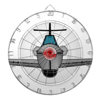 Old Style Fighter Aircraft Dartboard With Darts