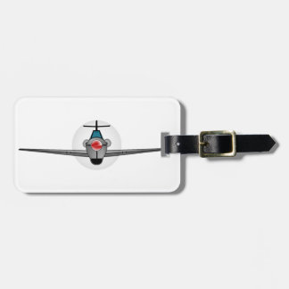 Old Style Fighter Aircraft Luggage Tag