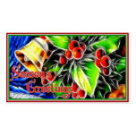 Old Style Holly With Golden Bell Double-Sided Standard Business Cards (Pack Of 100)