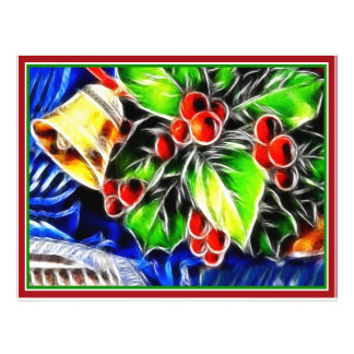 Old Style Holly With Golden Bell Full Color Flyer