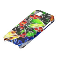 Old Style Holly With Golden Bell iPhone 5 Case