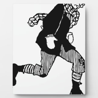 Old Style Ice Skater Plaque