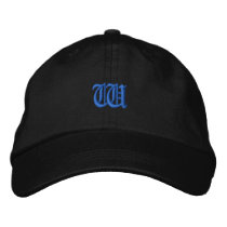Old Style Letter W Embroidered Baseball Hat