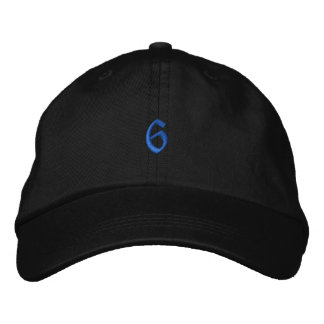 Old Style Number 6 Embroidered Baseball Cap