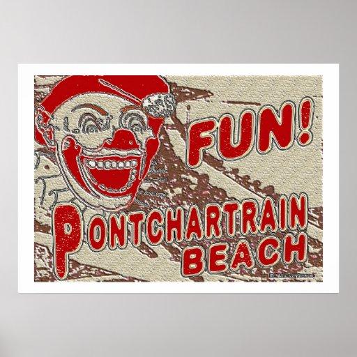 Old Style Pontchartrain Beach Sign Print