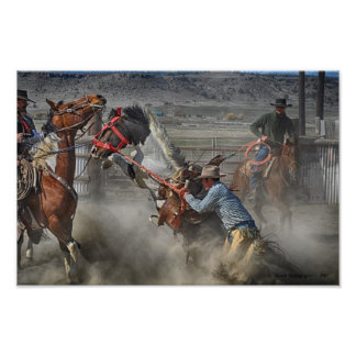 Old Style Ranch Bronc Art Photo