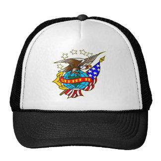 Old Style Tattoo Eagle Flag Semper Fi Mesh Hat