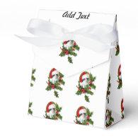 Old Style Vintage Christmas Kitten Favor Box