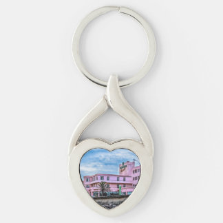 Old Style Waterfront Hotel, Montevideo, Uruguay Keychain