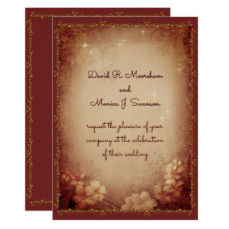 Old Style Wedding Card
