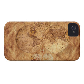 Old Style World Map iPhone 4 Case
