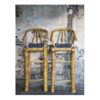 Old styled bamboo chairs, Xitang, Zhejiang, Postcard