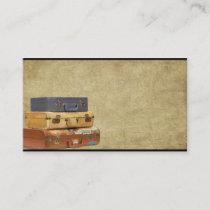 Old Suitcases- Traveling- Prim Biz Cards