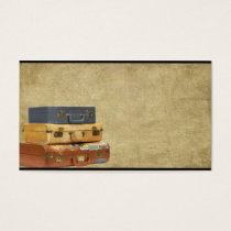 Old Suitcases- Traveling- Prim Biz Cards