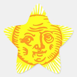 Old Sun Star Sticker